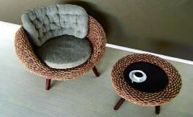 Необычный дизайн ротанговой мебели