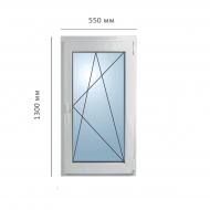 Окно поворотно-откидное 550x1300 мм, Framex
