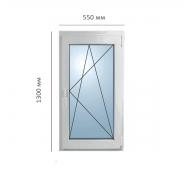 Окно поворотно-откидное 550x1300 мм