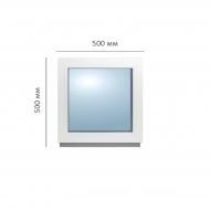 Окно глухое 500x500 мм, Framex