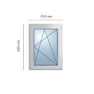 Окно поворотно-откидное 450x600 мм, Framex
