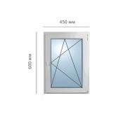 Окно поворотно-откидное 450x600 мм