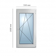 Окно поворотно-откидное 550x1600 мм, Framex