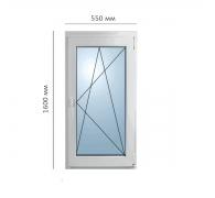 Окно поворотно-откидное 550x1600 мм
