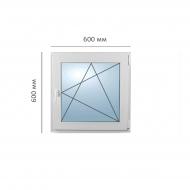 Окно поворотно-откидное 600x600 мм, Framex