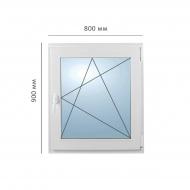 Окно поворотно-откидное 800x900 мм, Framex