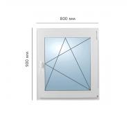 Окно поворотно-откидное 800x900 мм