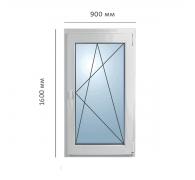 Окно поворотно-откидное 900x1600 мм