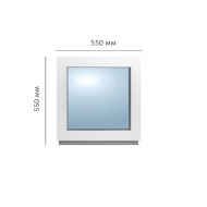 Окно глухое 550x550 мм, Framex