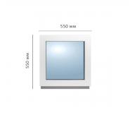 Окно глухое 550x550 мм