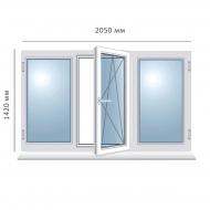 Окно поворотно-откидное 2050x1420 мм, Framex