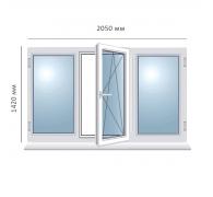 Окно поворотно-откидное 2050x1420 мм
