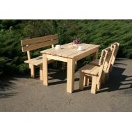 Комплект мебели обеденный из дерева, Quadrat