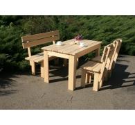 Комплект мебели обеденный из дерева