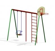 Комплекс гімнастичний з баскетбольним щитом та гойдалкой