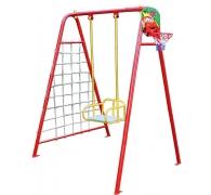 Дитяча гойдалка 4 в 1 (баскетбольне кільце + гладіаторська сітка + дартс)