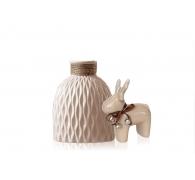 Набір керамики ваза + статуетка оленя
