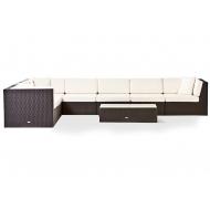 Комплект мебели плетный: модульный диван угловой и стол, Lagoon