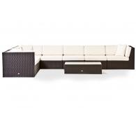 Комплект мебели плетный: модульный диван угловой и стол