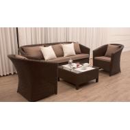 Комплект мебели диван, 2 кресла и столик журнальный, Barselona