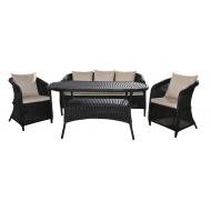 Обеденный комплект стол, софа и 2 кресла, Donna
