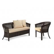 Плетеный комплект мебели, Diana