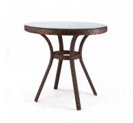 Круглый столик из ротанга d=80см