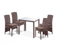 Комплект мебели: стол 80см + 4 стула высоких