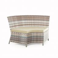Угловой диван радиусный из ротанга, Marsel