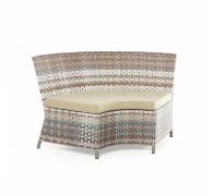 Угловой диван радиусный из ротанга