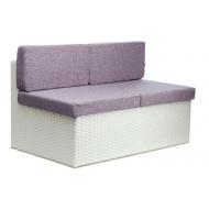 Прямой элемент дивана из ротанга, Wens
