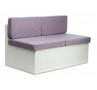 Прямий елемент дивану з ротангу