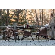 Комплект ротанговой мебели: стол + 2 кресла, Montana