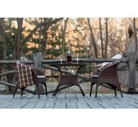 Комплект ротанговой мебели: стол + 2 кресла