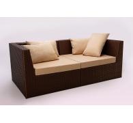 Модульний диван з ротангу