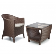Набор мебели: кресло и столик кофейный, Paradiz