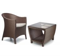 Набор мебели: кресло и столик кофейный