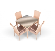 Комплект мебели стол 90 см + 4 стула
