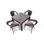 Комплет мебели стол 90 см + 4 стула, Terrace Light