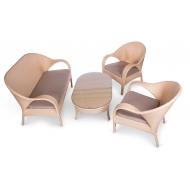 Комплект мебели: стол журнальный + 2 кресла + софа, Florencia