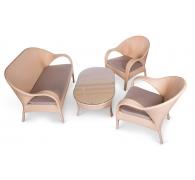 Комплект мебели: стол журнальный + 2 кресла + софа