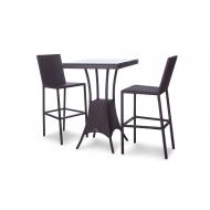 Барный комплект: стол + 2 стула, Milano
