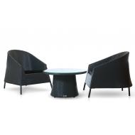 Комплект мебели столик журнальный + 2 кресла , Rikitea