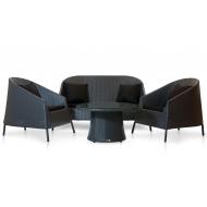 Комплект мебели столик журнальный + 2 кресла + софа, Rikitea