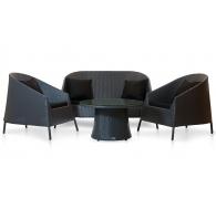 Комплект мебели столик журнальный + 2 кресла + софа